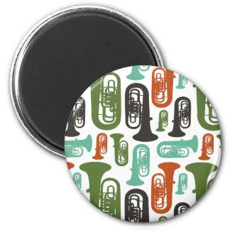Retro Tuba Patttern Magnet