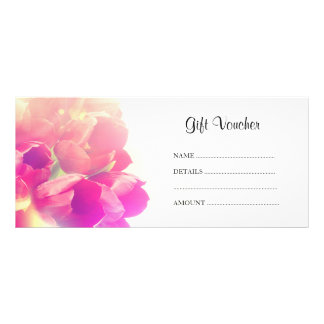 Retro tulips rack card / gift voucher