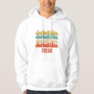 Retro Tulsa OK Skyline Pop Art Hoodie