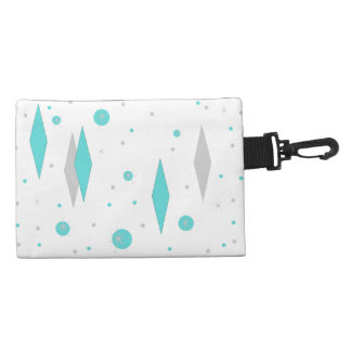 Retro Turquoise Diamond & Starburst Accessory Bag