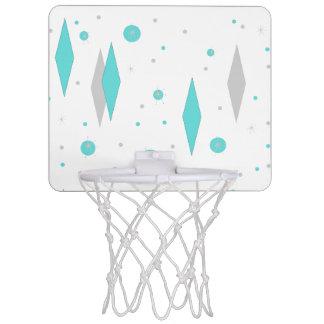 Retro Turquoise Diamond & Starburst Basketball Goa Mini Basketball Hoop