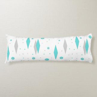 Retro Turquoise Diamond &  Starburst Body Pillow