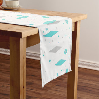 Retro Turquoise Diamond  & Starburst Table Runner