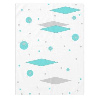 Retro Turquoise Diamond  & Starburst Tablecloth