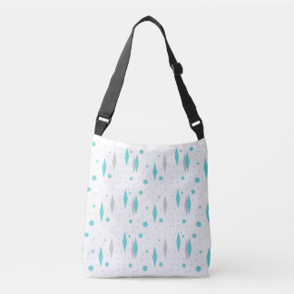 Retro Turquoise Diamonds and Starbursts Tote Bag