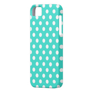 Retro Turquoise Polka Dots iPhone 5s Case iPhone 5 Cases