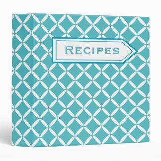 Retro Turquoise Recipe Binder