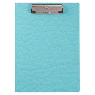 Retro Turquoise Teal Leather Custom Clipboard