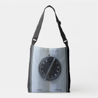 Retro TV Dial & Buttons Crossbody Bag