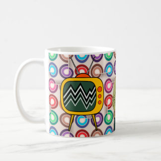Retro TV Girl Coffee Mug