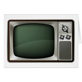 Retro TV Illustration Card
