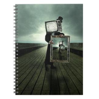 Retro tv men notebook