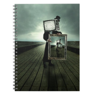 Retro tv men spiral notebook