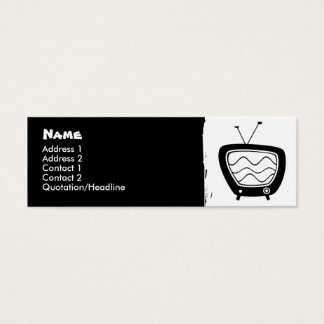 Retro TV Skinny Profile Cards