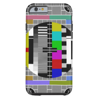 Retro TV Text Pattern iPhone 6 Tough iPhone 6 Case