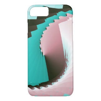 Retro Twist Pink Blue iPhone 7 Case