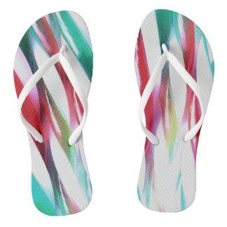 Retro Twists Flip Flops