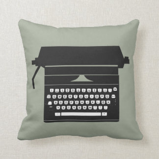 Retro Typewriter throw pillow