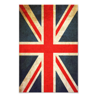Retro Union Jack British Flag Photo Print