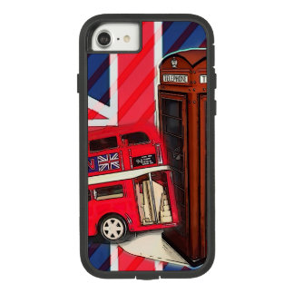 Retro Union Jack London Bus red telephone booth Case-Mate Tough Extreme iPhone 8/7 Case