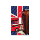 Retro Union Jack London Bus red telephone booth Light Switch Cover