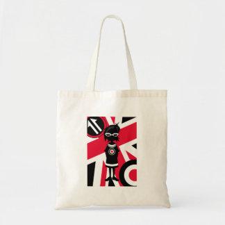Retro Union Jack Mod Girl Silhouette Tote Bag