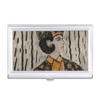 RETRO UPTOWN GIRL BUSINESS CARD HOLDER