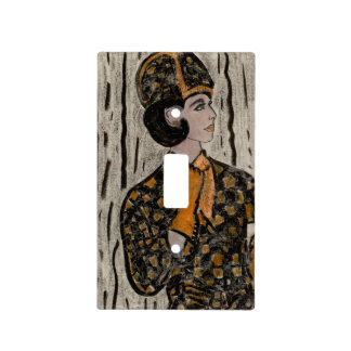RETRO UPTOWN GIRL LIGHT SWITCH COVER