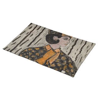 RETRO UPTOWN GIRL PLACEMAT