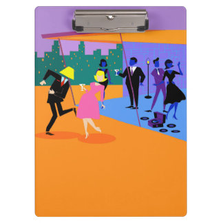 Retro Urban Rooftop Party Clipboard