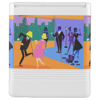 Retro Urban Rooftop Party Igloo Can Cooler