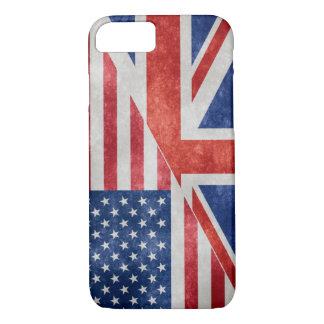 Retro US-UK Flag iPhone Case