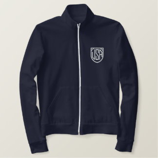 Retro USA Soccer Embroidered zip fleece Embroidered Jacket