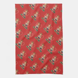 Retro Valentine's Boy Red Kitchen Towel