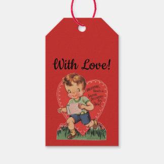 Retro Valentines Boy Gift Tags