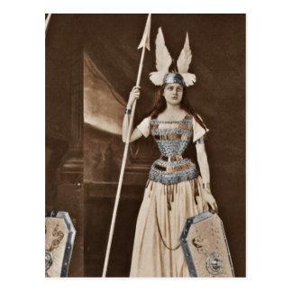Retro Valkyrie Girls Postcard