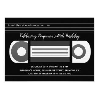Retro VHS Video Cassette Tape Birthday Invitation