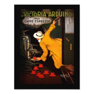 """Retro Victoria-Arduino coffee 4.25"""" X 5.5"""" Invitation Card"""