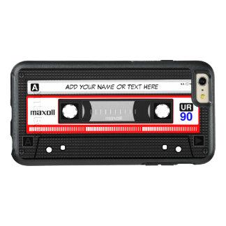 Rétro vieille cassette audio drôle de mode de coque OtterBox iPhone 6 et 6s plus