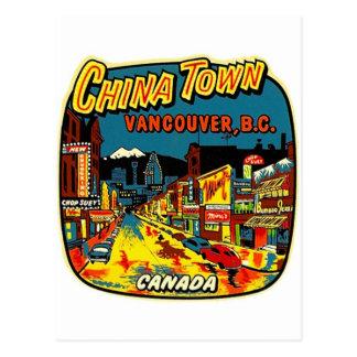 Rétro ville vintage Vancouver de la Chine de kitsc Cartes Postales