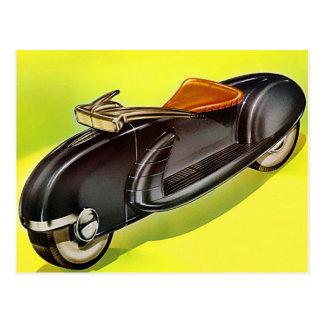 Retro vintage 50's Motorcycle of the Future Postcard