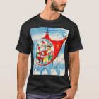 Retro Vintage Advertisement Helicopter Santa T-Shirt