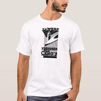 retro vintage advertisement - Werf  canoe rentals T-Shirt