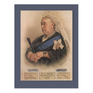 Retro vintage advertising, Queen Victoria Postcard