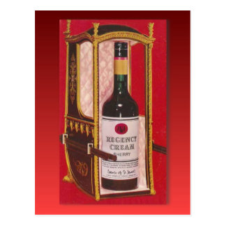 Retro vintage advertising, Regency Cream Sherry Postcard