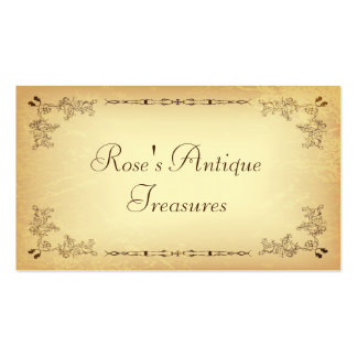 Retro Vintage Aged Paper Business Cards
