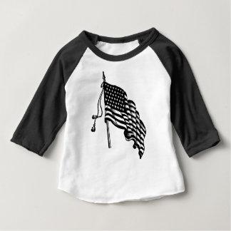 Retro Vintage American Flag Baby T-Shirt