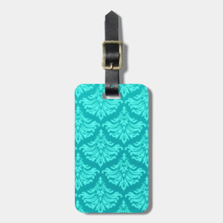Retro Vintage Aqua Teal Peacock Luggage Tag