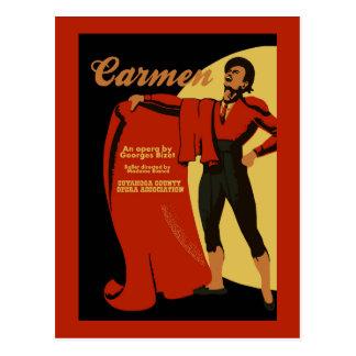 Retro vintage art Carmen opera (Toreador) Postcard