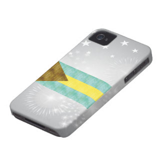 Retro Vintage Bahamas Flag iPhone 4 Case-Mate Cases